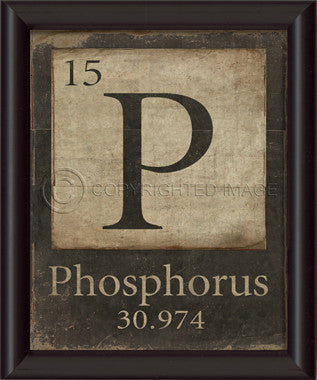 15-P-Phosphorus Framed Art