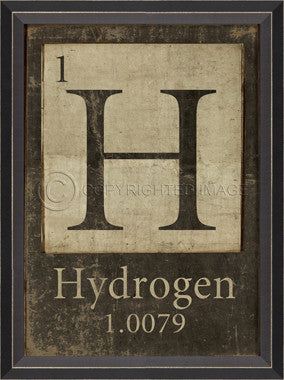 1-H-Hydrogen Framed Art