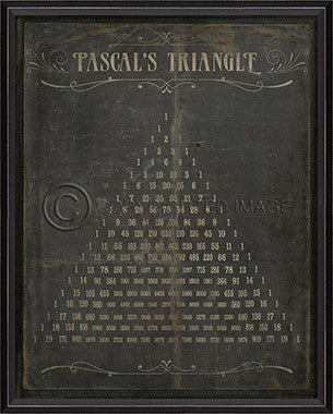 18439 BC Pascals Triangle Framed Art
