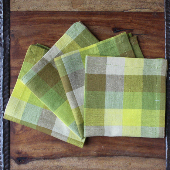 Checkered Meadow Napkins by Sustainable Threads