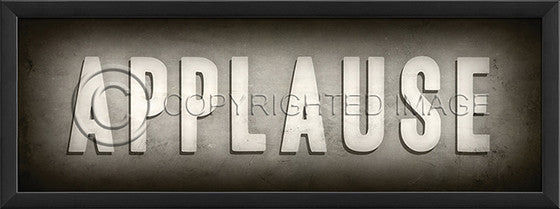 19245 EB Theater Sign Applause Framed Art
