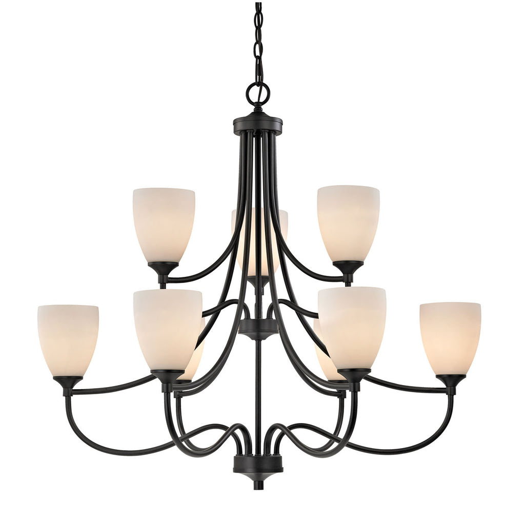 Arlington 9 Light Chandelier In Oil Rubbed Bronze 2009CH/10 by Thomas Lighting