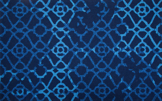 MAT Orange SLNHERBLU Area Rug in Blue