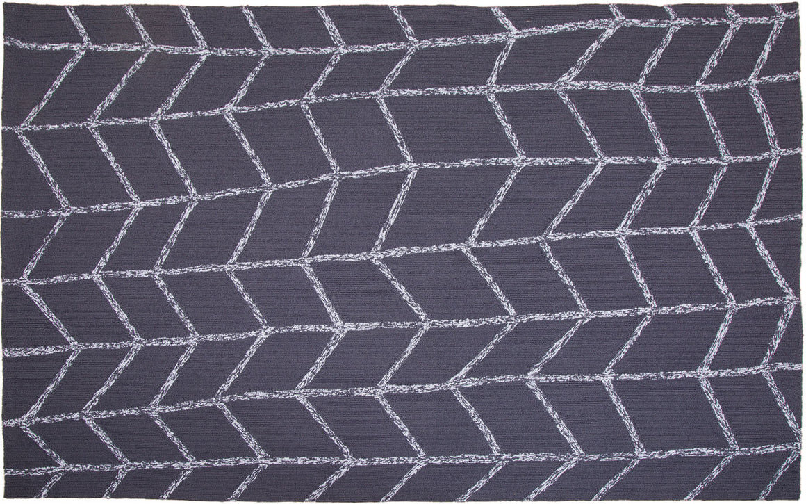 MAT Orange SLNSHWDGY Area Rug in Dark Grey