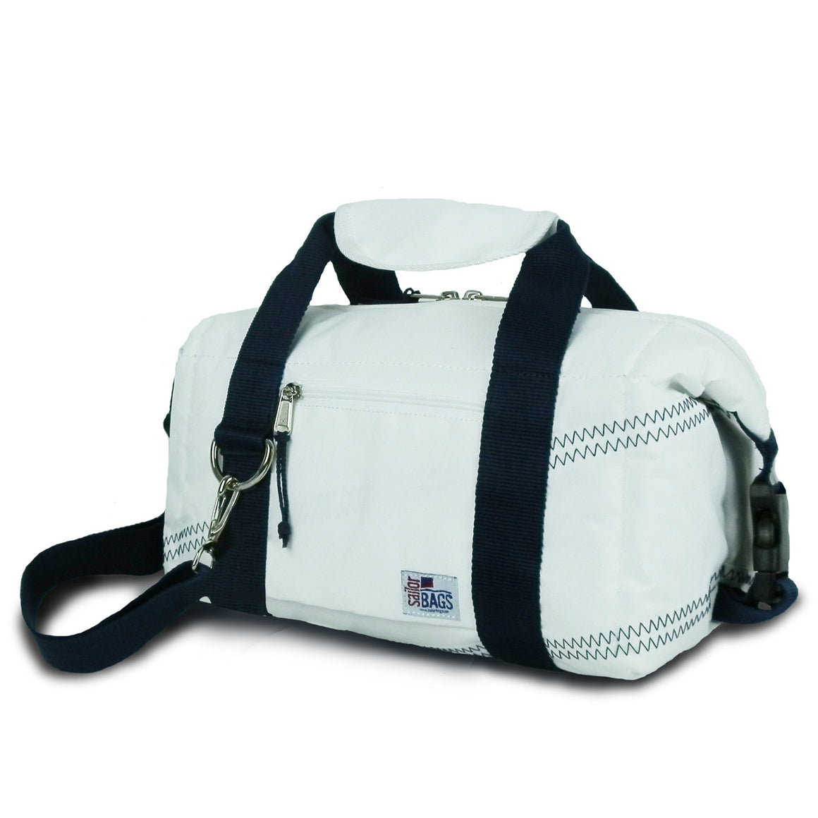 Newport Insulated 8-Pack CoolerBag by SailorBags White w/ Blue Trim