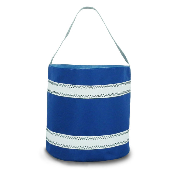 Nautical Stripes Bucket Bag by SailorBags White w/ Nautical Blue Stripes