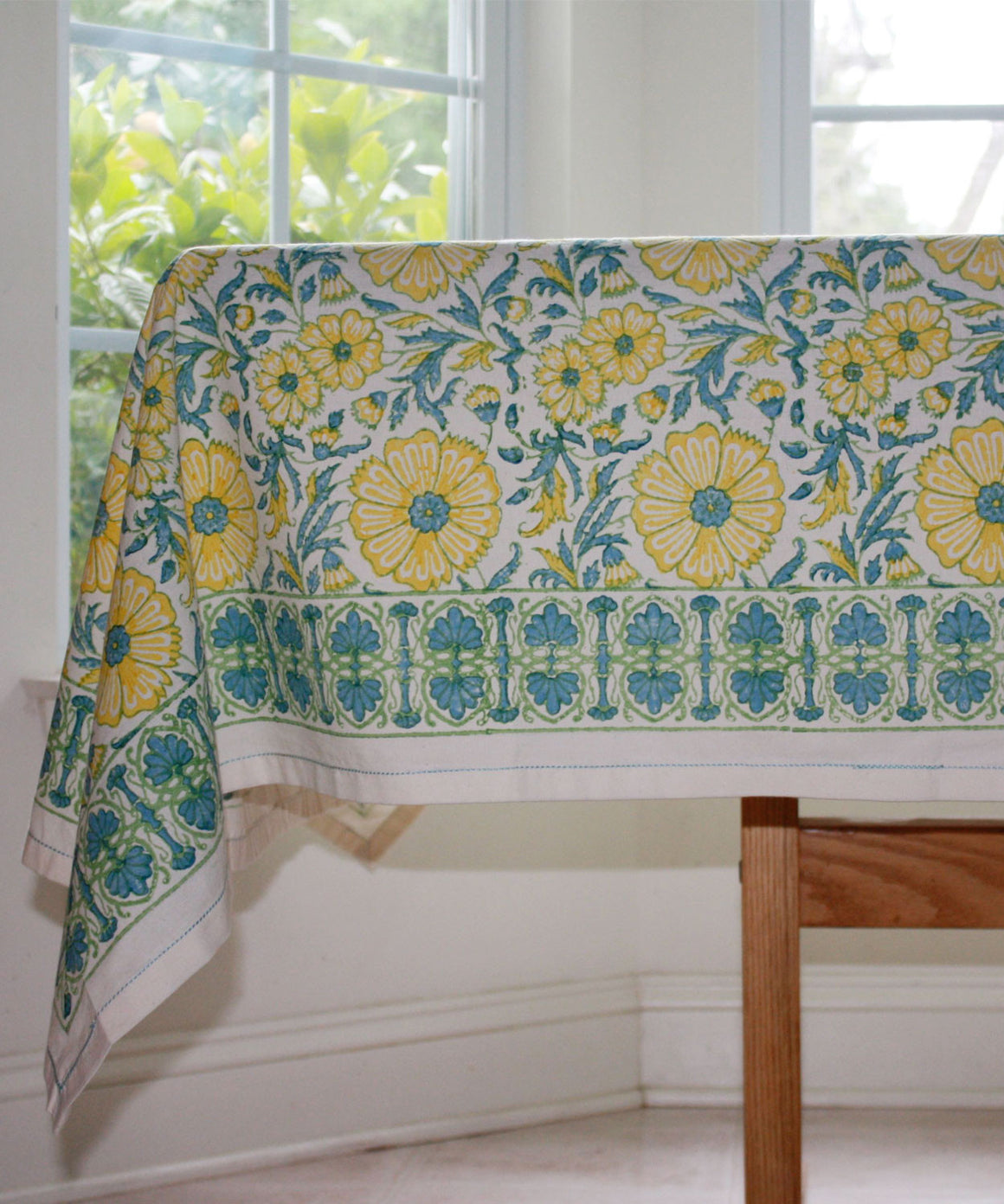Bloom-Wheat Tablecloth by Sustainable Threads