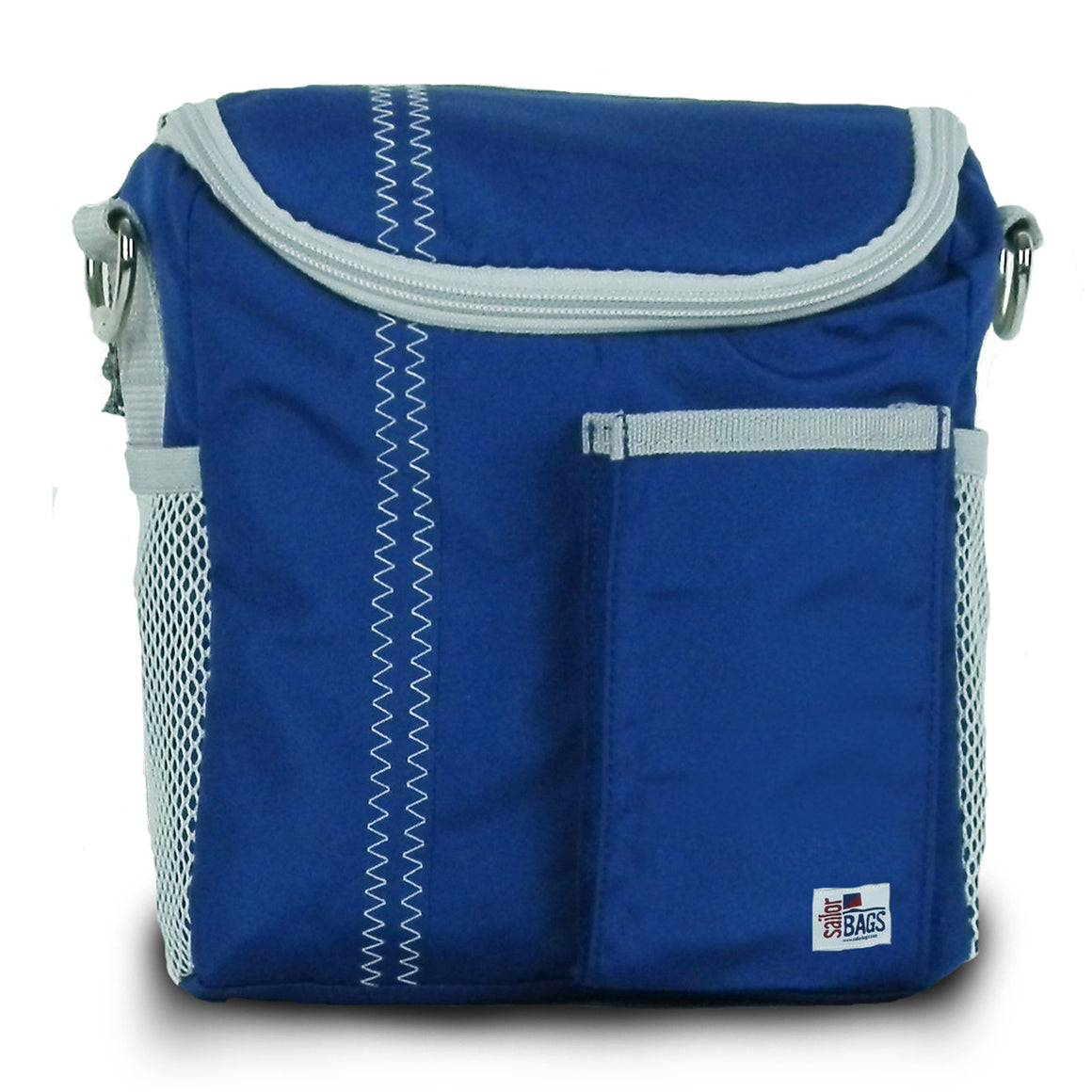 Chesapeake Insulated Lunch Bag by SailorBags Nautical Blue w/ Grey Trim