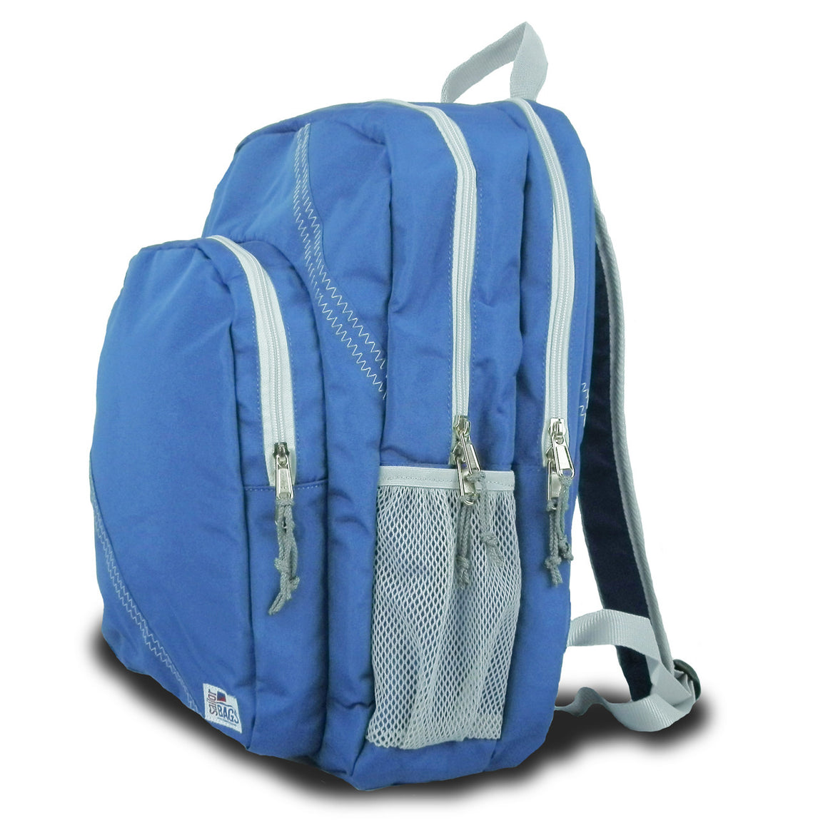 Chesapeake Backpack by SailorBags Nautical Blue w/ Grey Trim