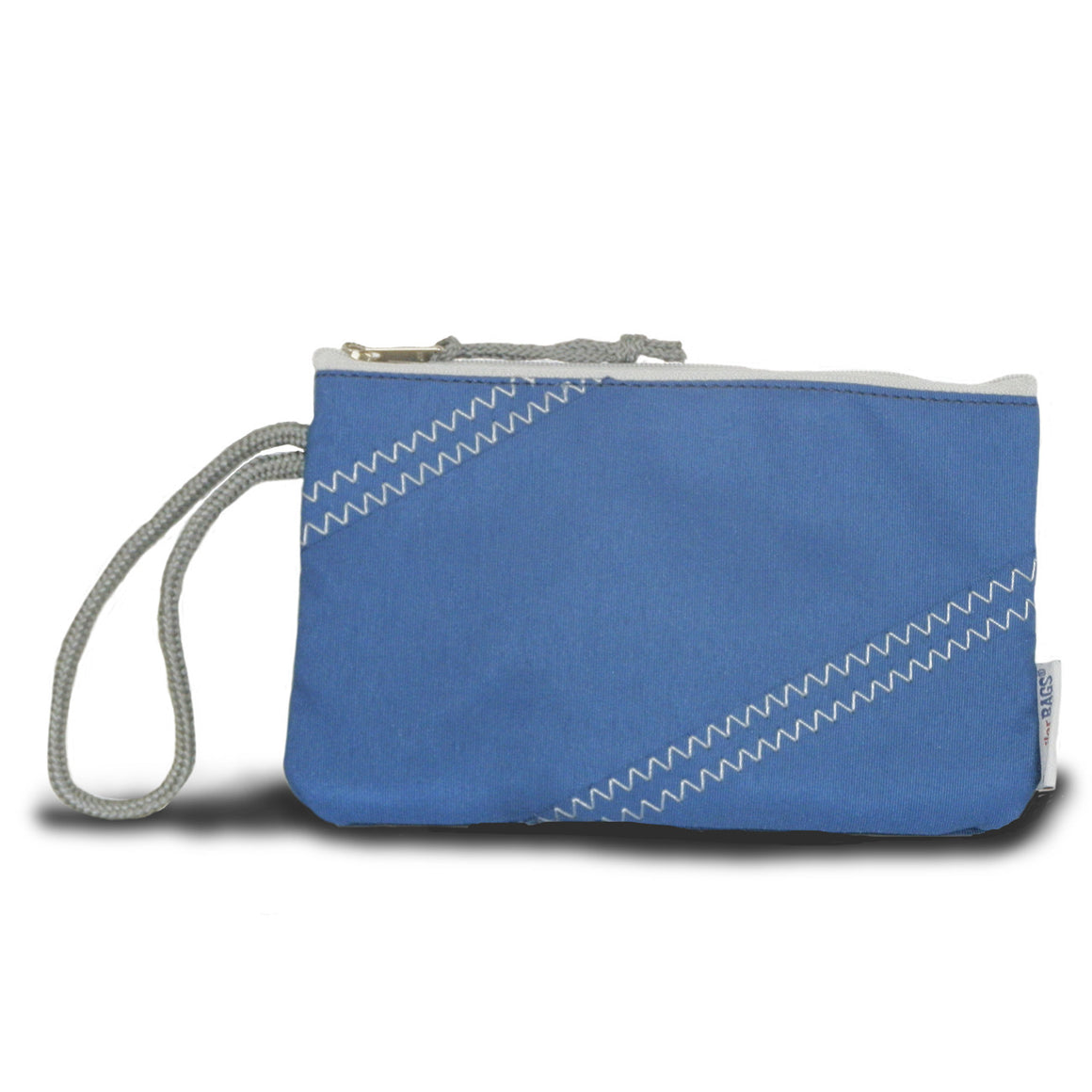 Chesapeake Wristlet by SailorBags Nautical Blue w/ Grey Trim