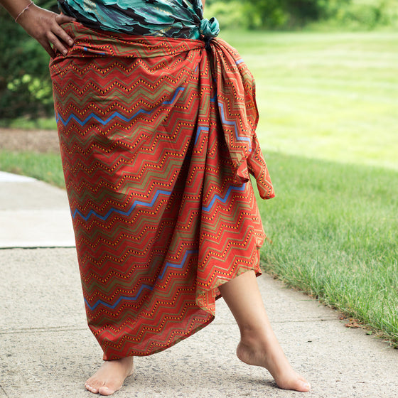 Tequila Sunset Sarong by Sustainable Threads