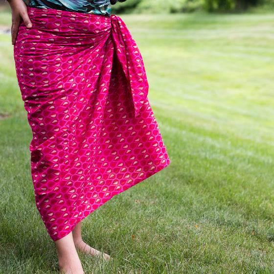 Passion Fruit Punch Sarong by Sustainable Threads