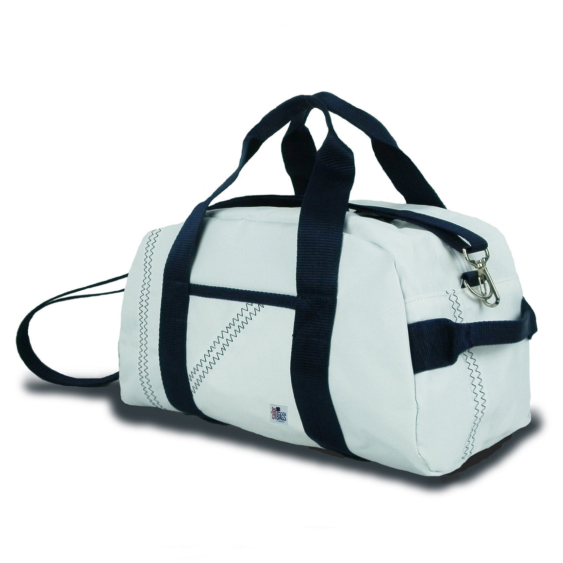 Newport Mini Duffel by SailorBags White w/ Blue Trim
