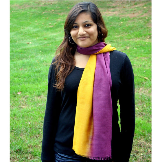 Peace Silk: Amber & Amethyst Ombre Scarves by Sustainable Threads