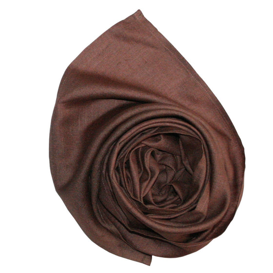 Organic Silk: Mocha Shimmer Scarves by Sustainable Threads
