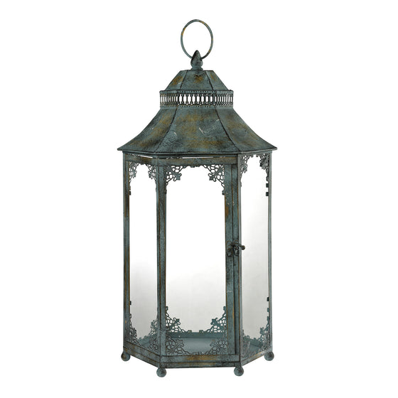 Aged Iron Lantern by Sterling