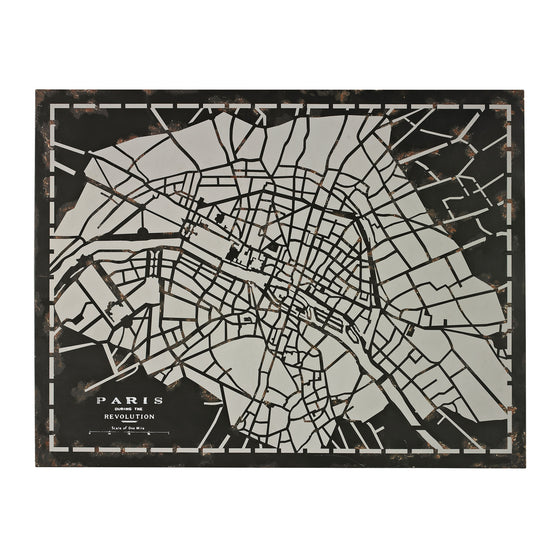 City Map-Laser Cut Map Of Paris Circa 1790 by Sterling