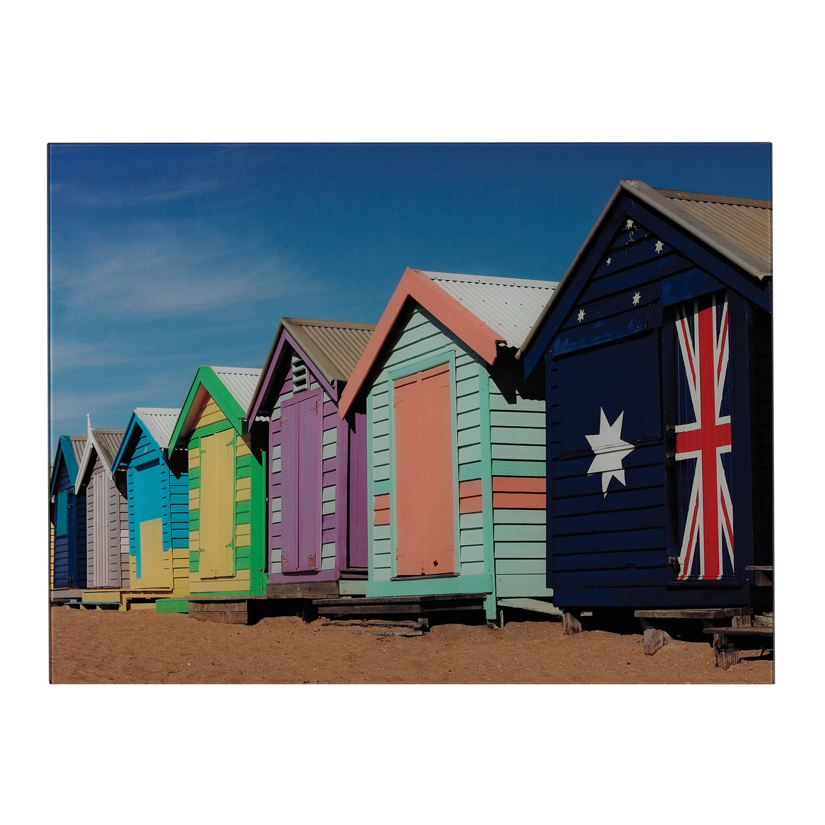 Beach Hut-Beach Hut Image Printed On Glass by Sterling