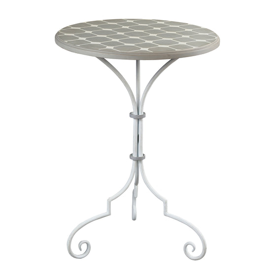 Ayer-Side Table In Grey / White Painted Finish by Sterling