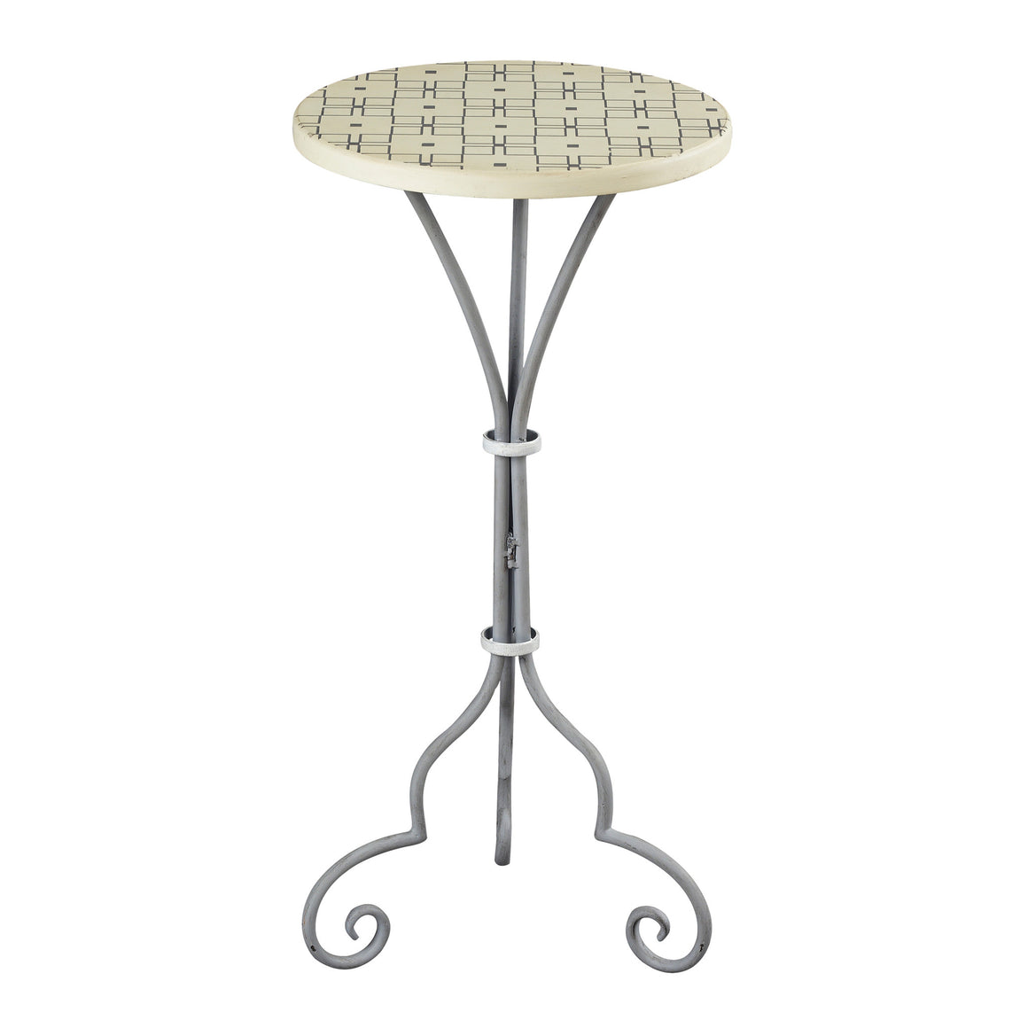 Ayer-Large Plant Stand In Grey / White Painted Finish by Sterling