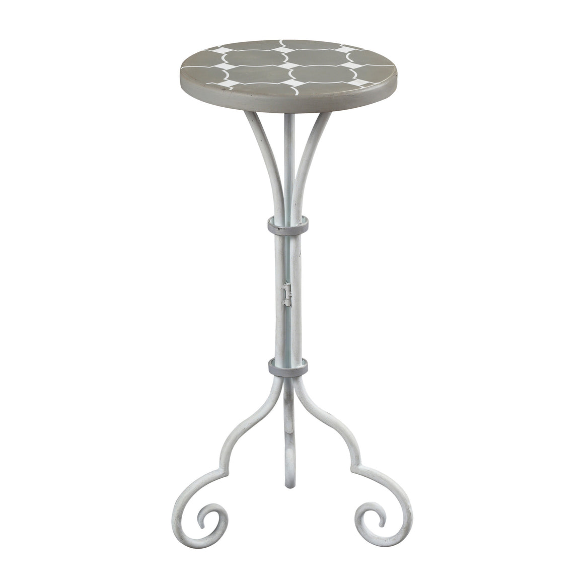 Ayer-Small Plant Stand In Grey / White Painted Finish by Sterling