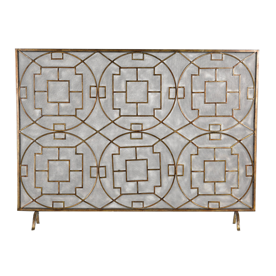 Geometric Firescreen by Sterling