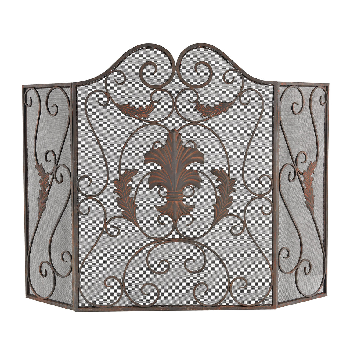 Iron Scroll Work Firescreen by Sterling