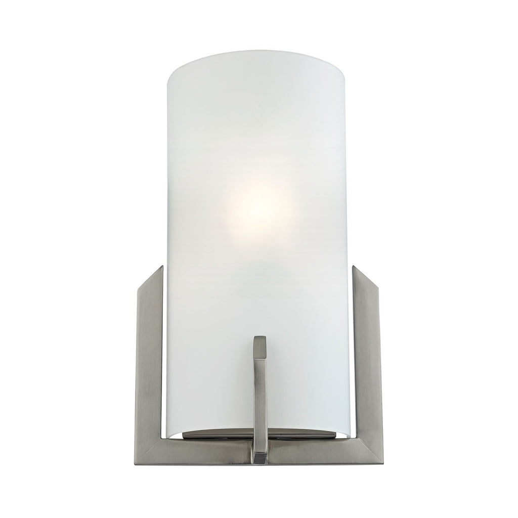 1 Light Wall Sconce In Brushed Nickel 5111WS/20 by Cornerstone