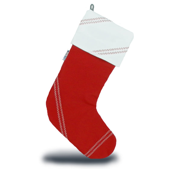 Chesapeake Christmas Stocking by SailorBags True Red w/ White Trim