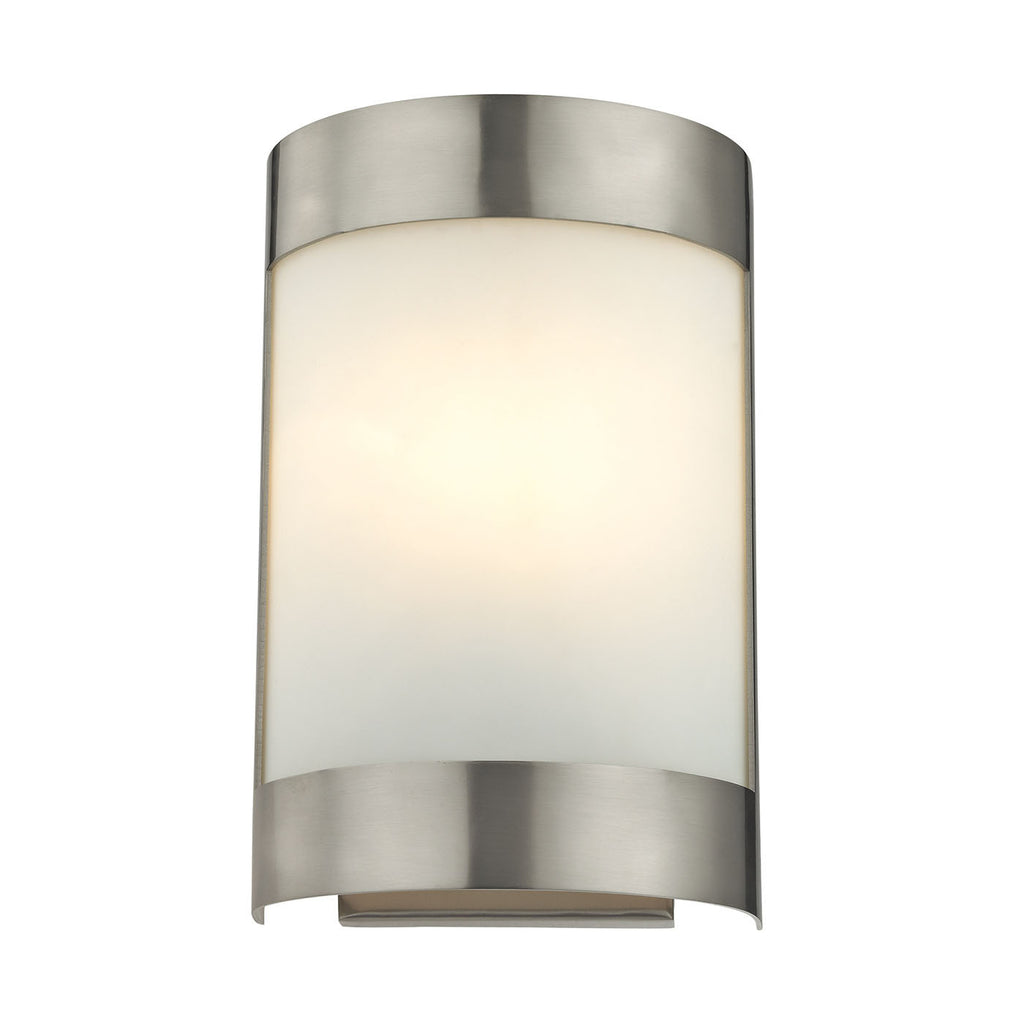 1 Light Wall Sconce In Brushed Nickel 5181WS/20 by Cornerstone