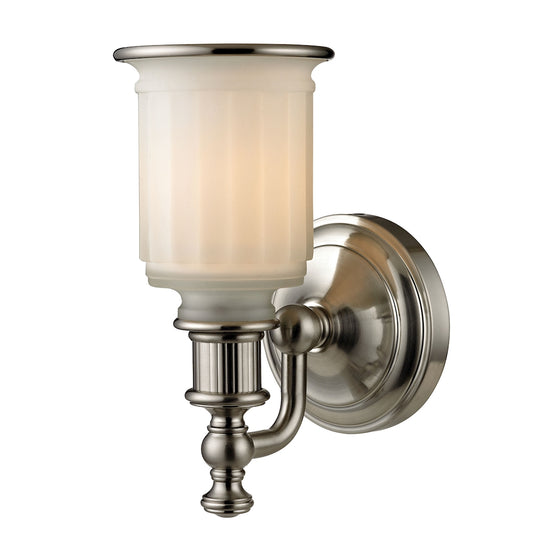 Acadia 1 Light Vanity In Brushed Nickel 52000/1 by Elk Lighting