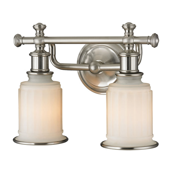 Acadia 2 Light Vanity In Brushed Nickel 52001/2 by Elk Lighting