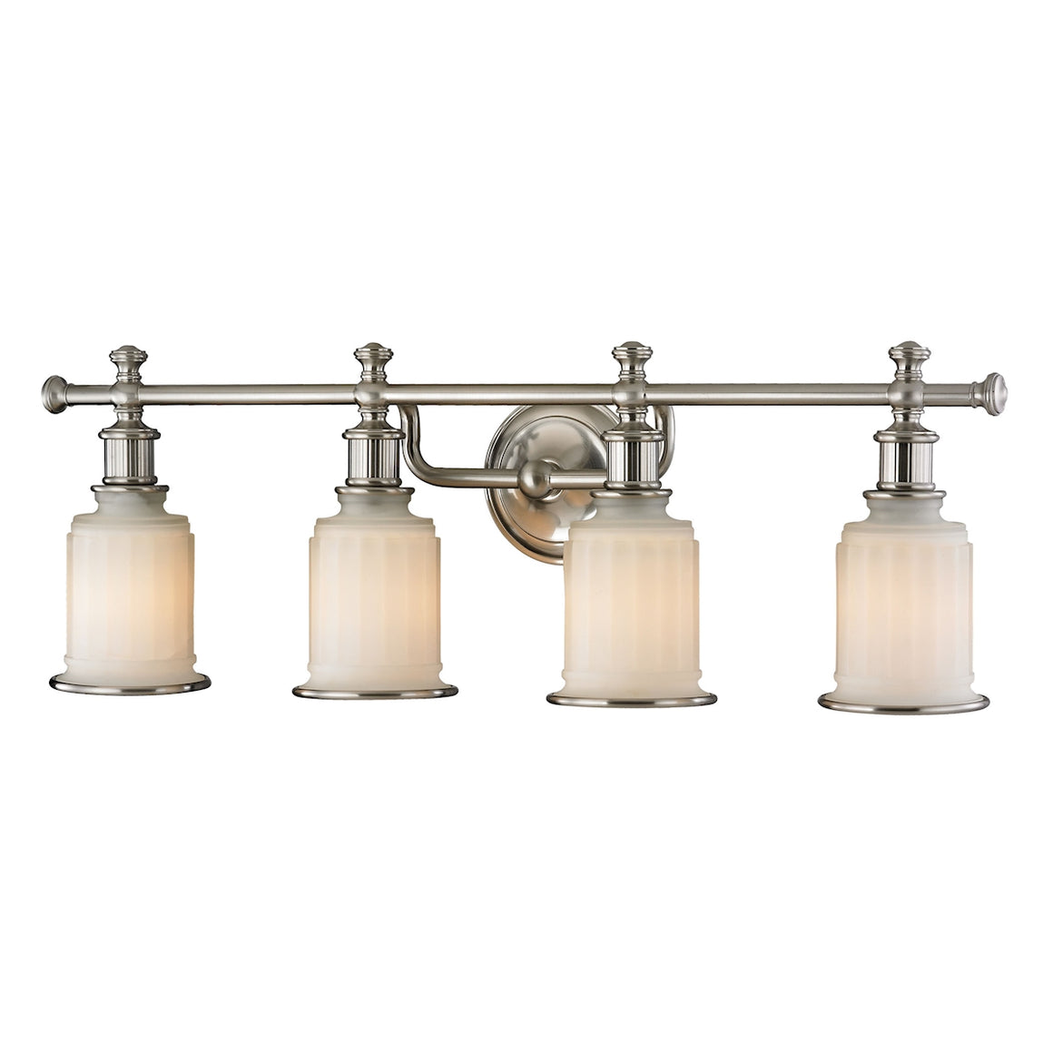 Acadia 4 Light Vanity In Brushed Nickel 52003/4 by Elk Lighting