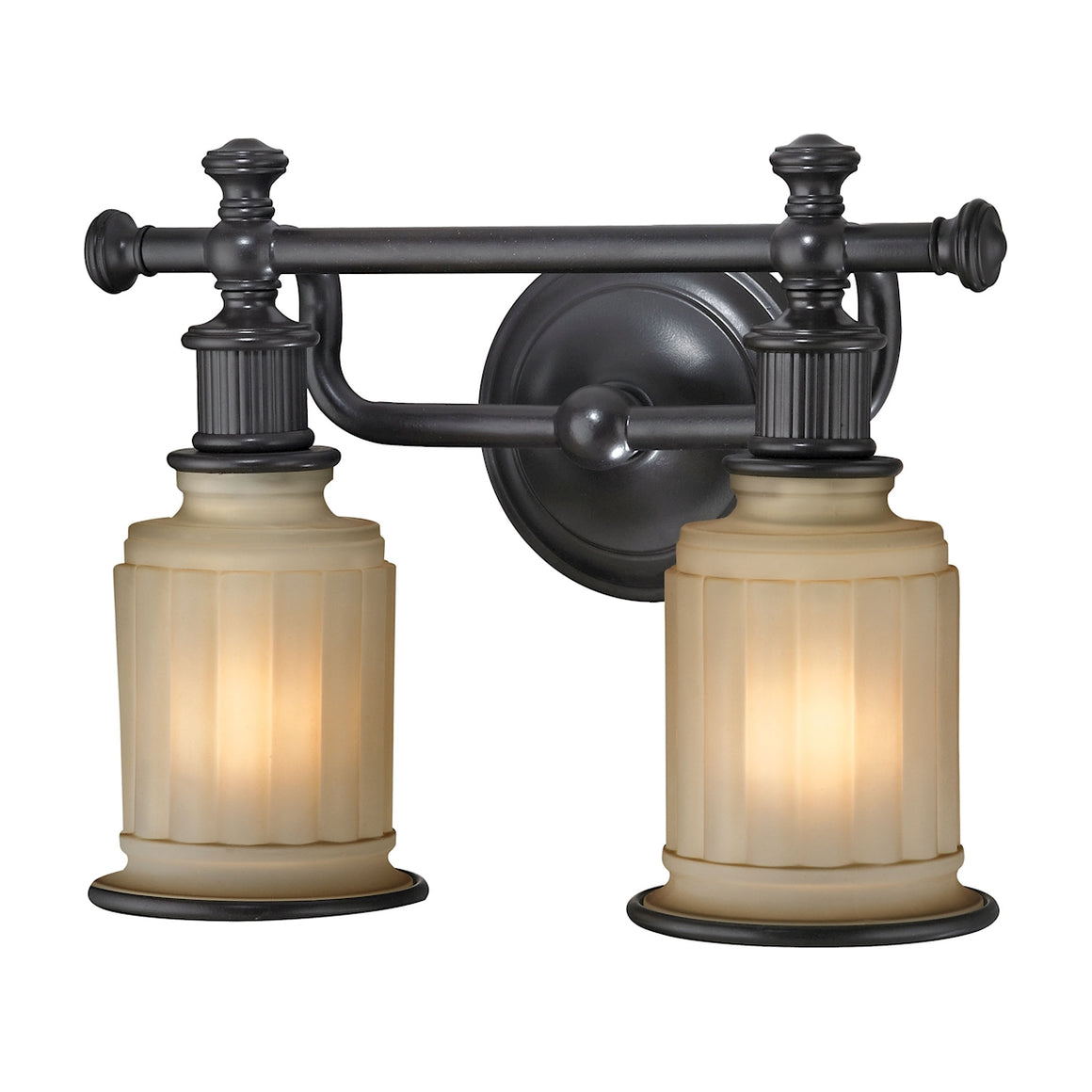 Acadia 2 Light Vanity In Oil Rubbed Bronze 52011/2 by Elk Lighting