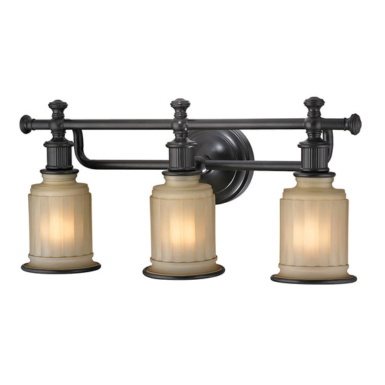 Acadia 3 Light Vanity In Oil Rubbed Bronze 52012/3 by Elk Lighting