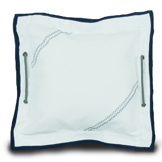 Newport Small Pillow Cover with Insert by SailorBags