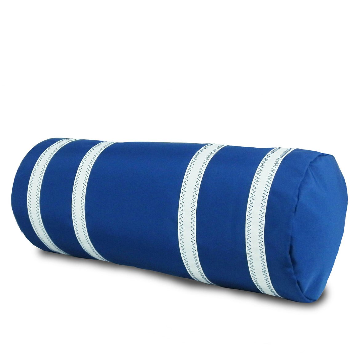 Nautical Stripes Bolster Pillow Cover with Insert by SailorBags Nautical Blue w/ White Stripes