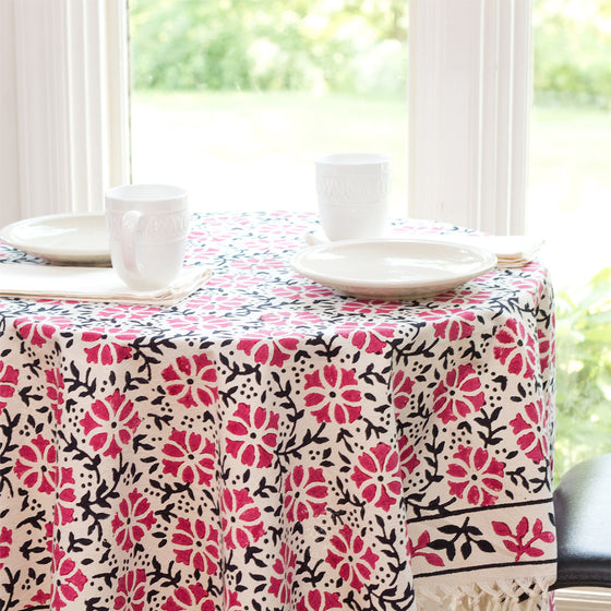 Camellia Tablecloth by Sustainable Threads