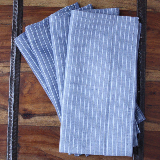 Blue-Grey Napkins by Sustainable Threads