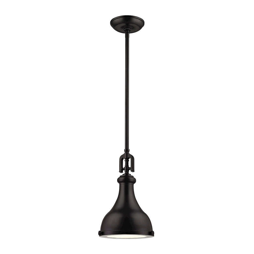 Rutherford 1 Light Pendant In Oil Rubbed Bronze 57060/1 by Elk Lighting