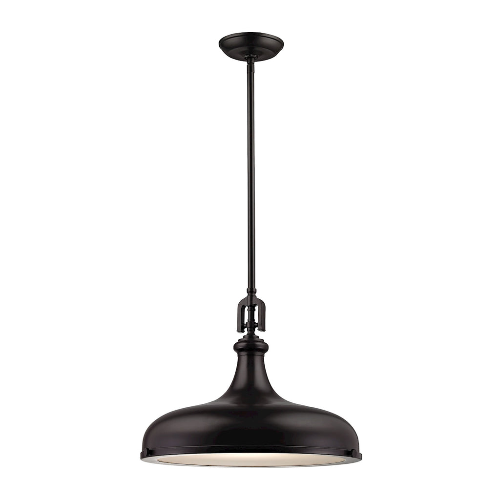 Rutherford 1 Light Pendant In Oil Rubbed Bronze 57062/1 by Elk Lighting