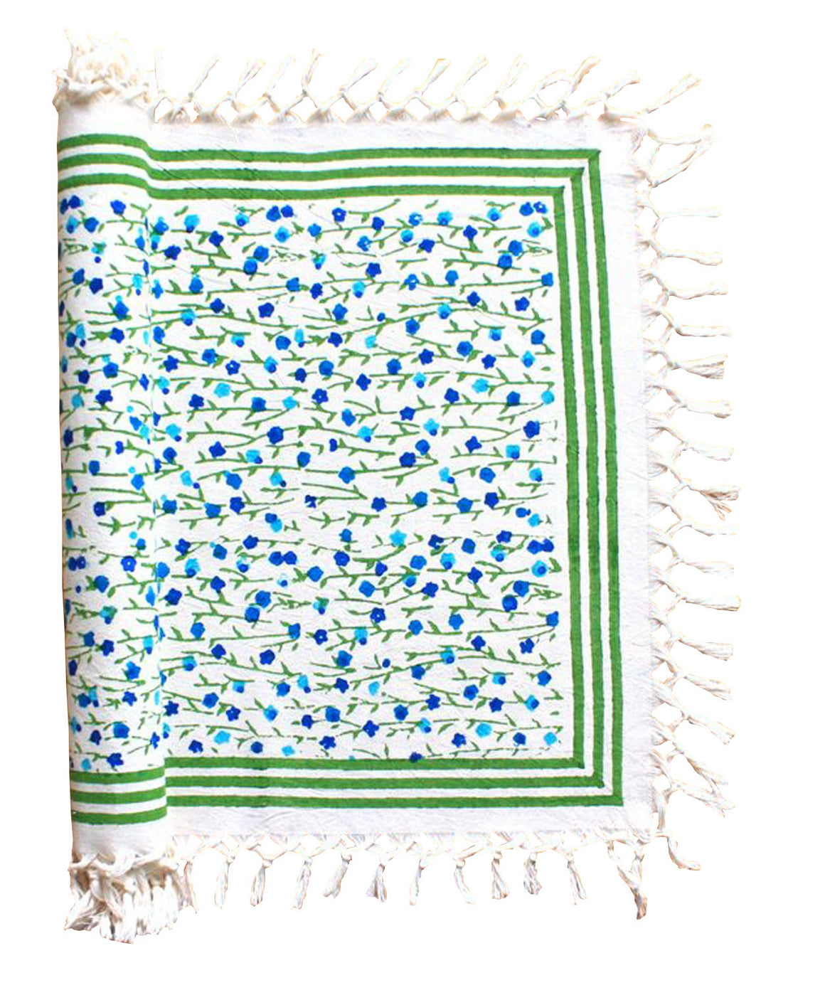Fiesta Blue Table Runner by Sustainable Threads