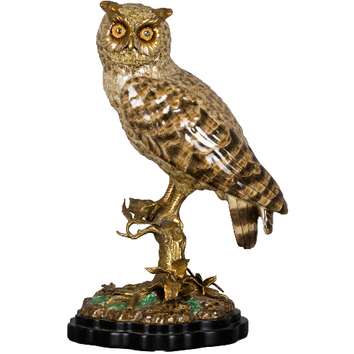 Owl with Bronze by Oriental Danny