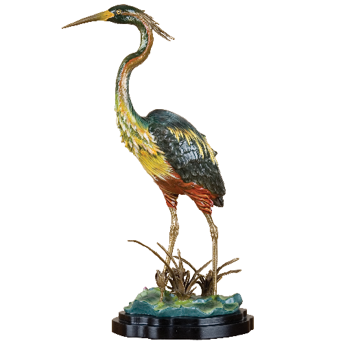 Porcelain Shore Birds with Bronze Accent by Oriental Danny