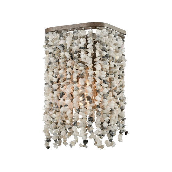 Agate Stones 1 Light Vanity In Weathered Bronze With Gray Agate Stones 65300/1 by Elk Lighting