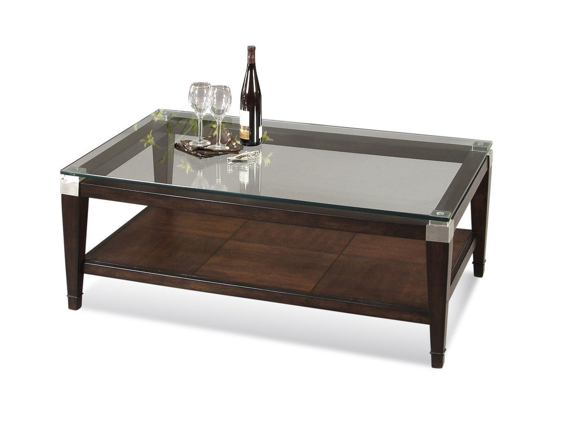 Dunhill T1171-100 Rectangular Oak and Parquet Coffee Table