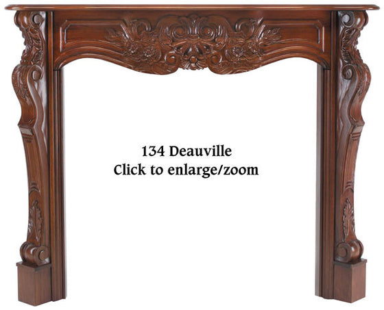 The Deauville Fireplace Mantel Fruitwood Finish 134-48-30