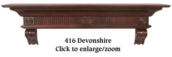 The Devonshire Shelf / Fireplace Mantel with Cherry Distressed Finish 416-60-70