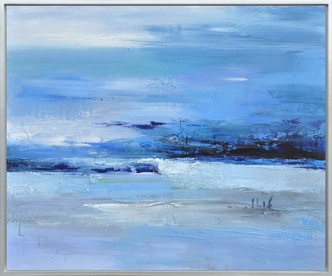 Calmness of Blue Oil/Acrylic Wall Art