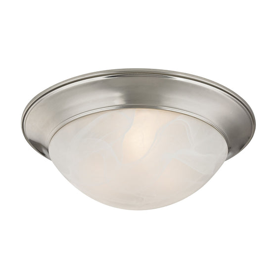 2 Light Flushmount In Brushed Nickel 7302FM/20 by Cornerstone